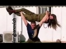18 year old crossfit girl lift carry overhead squat her 65kg friend