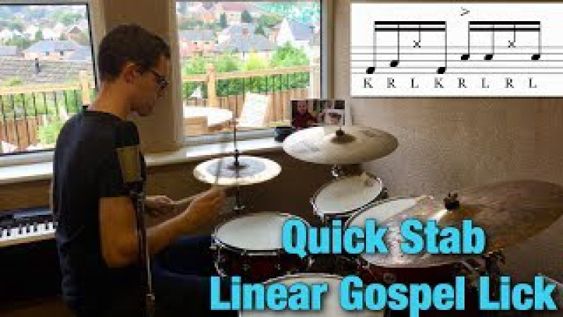 Quick Stab Linear Gospel Lick | Drum Lesson By Dex Star