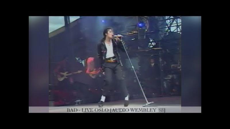 Michael Jackson - Bad [60FPS]   Dangerous Tour Live Oslo   Enhanced [Audio Wembley ´88]