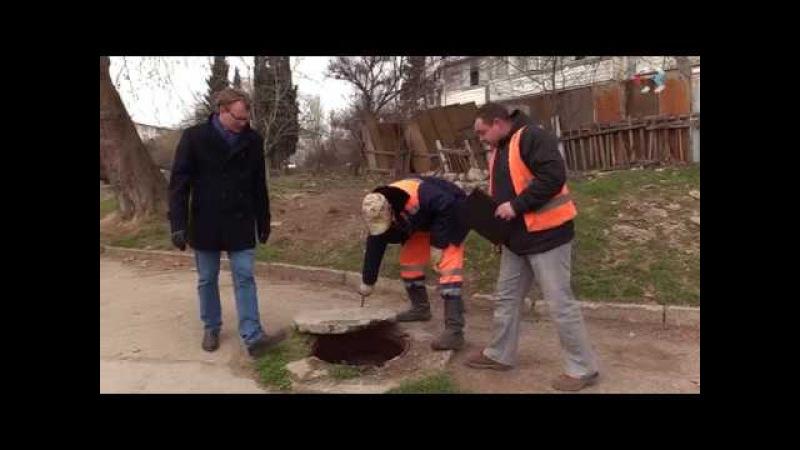 Ямы, открытые люки, разбитые колодцы — такие проблемы выявили в Гагаринском районе