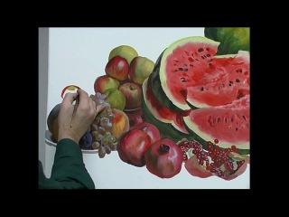 Натюрморт с арбузами. Андрияка С.Н. (ускоренный видеоурок)