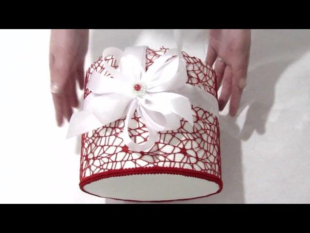 Шляпная коробка для букета из конфет своими руками