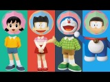 Wrong Heads Doraemon Nobita Shizuka Takeshi Gouda Finger Family Learn Colors Nursery Rhyme For Kids