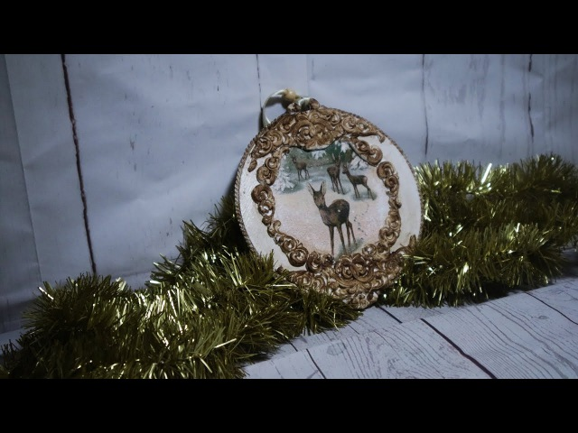 61 DECOUPAGE CHRISTMAS ORNAMENTS / CHRISTMAS BALLS / BOMBKA DECOUPAGE/ TUTORIAL / HANDMADE