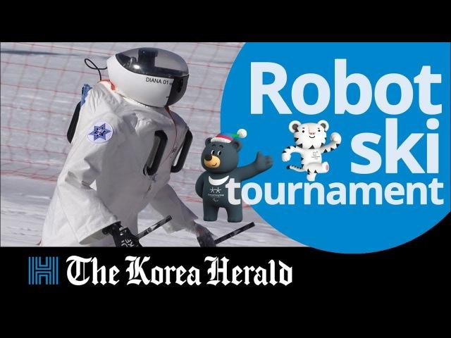 В Корее прошли соревнования по слалому среди гуманоидных роботов