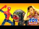 ✌ ТойМастер и ЧеловекПаук выпустили ТЕУТАН 👾 Видео игрушки супергерои Битва