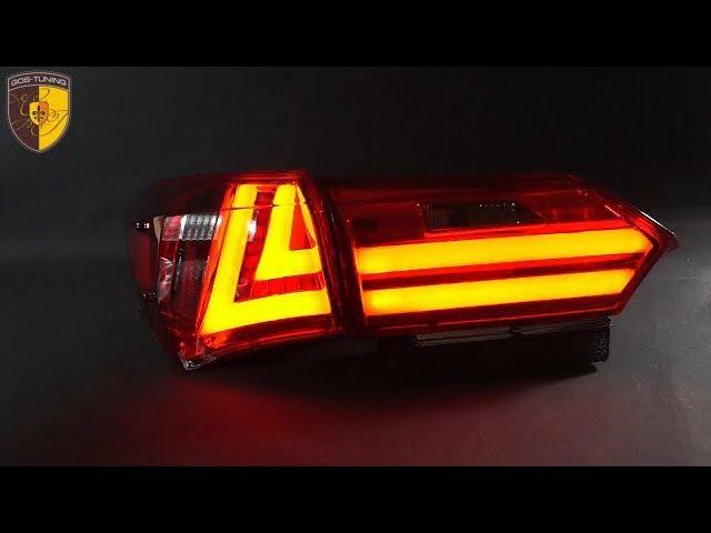 Тюнинг задние фонари Lexus Style на Тойота королла Taillights Toyota Corolla E160 E170 Красные
