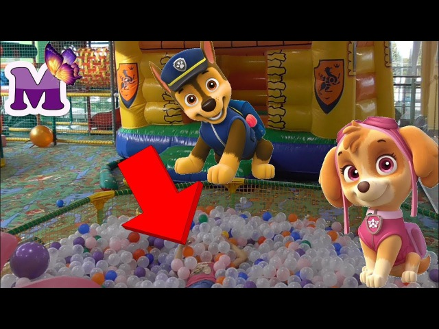 ЩЕНЯЧИЙ ПАТРУЛЬ Paw patrol Skye Racer and play on the Playground and ride the roller coaster
