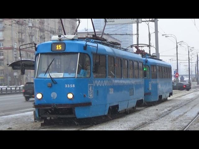 Сдвоенный трамвай Tatra-t3 (МТТА) (СМЕ) №3358 №3350 Московский Транспорт