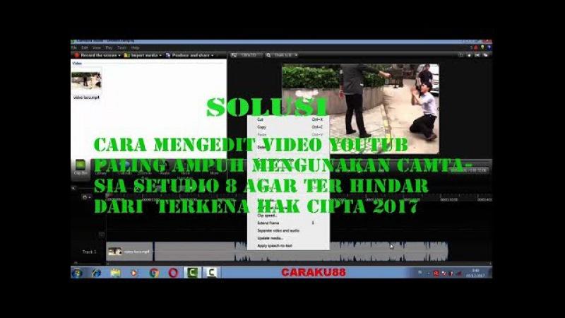 Cara terbaru mengedit video youtub paling ampuh agar tida terkena hak cipta 2017
