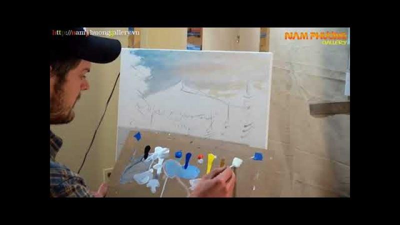 Vẽ Tranh Phong Cảnh Mùa Đông   Phòng Tranh Sơn Dầu Nam Phương   NamPhuongGallery