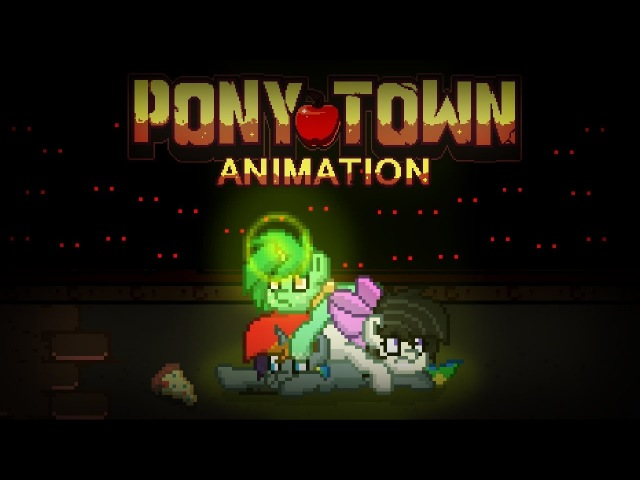 Pony Town Animation: He got my slice of pizza!!