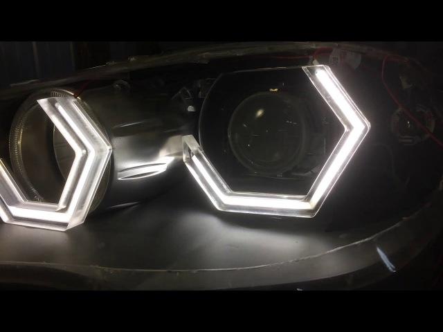Глазки для BMW X5 E70 ромбо образные