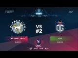 OG vs Planet Dog RU #2 (bo3) ESL One Katowice 2018 Major EU Qual 11.01.2018