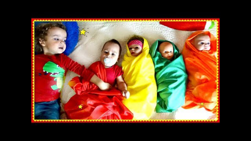 Сrying Baby dolls, Are you sleeping song for kids by Learn colors with Nursery rhymes Songs