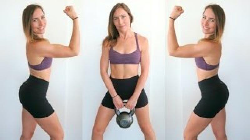 Big A$$ Kettlebell BOOTY Workout   Strength Training Tabata