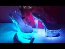 Стрипы-босоножки FLASHDANCE-708-CM от Pleaser USA - Платформа и каблук светятся (или мигают) одним или разными цветами