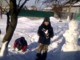 Как мои мальчишки лепили снеговика