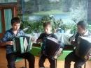 Веселое настроение трио гармонистов Евдокимов А. Кузьмин В, Волков Д - 2012 г