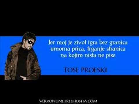 Igra bez granica LYRICS - Tose Proeski