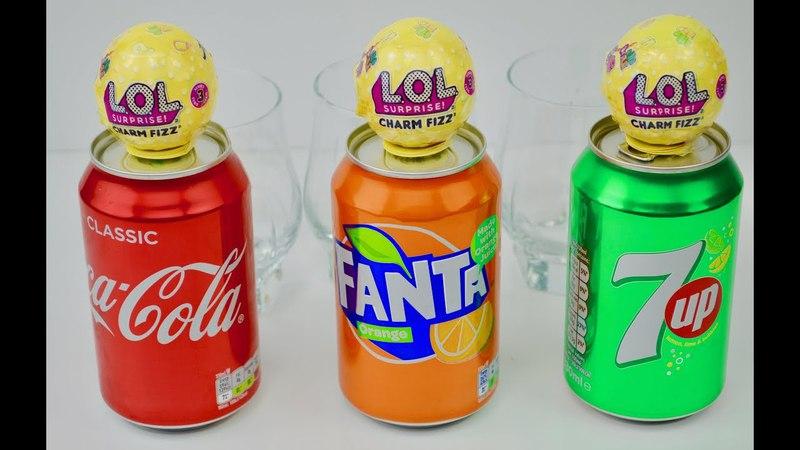 LOL Charm Fizz Fizzy Drink. Эксперимент с Coca Cola Fanta 7up