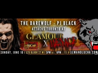 OMG!! former WWE and Lucha Underground star PJ Black is coming to Toronto for @DemandLucha! - - June 10 at Lees Palace 5pm - - L