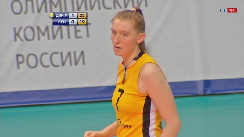 Волейбол Женщины чемпионат России Динамо-Москва - Ленинградка 16_02_2018