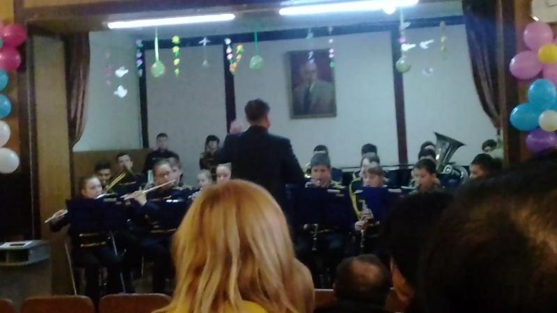 Открытый урок с оркестром духовых инструментов