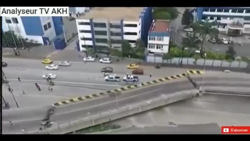 Chaîne YT - AKH TV - 101.Étranges phénomènes Equateur et routes fissurées ! INCROYABLE