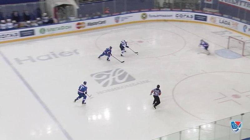 Моменты из матчей КХЛ сезона 14/15 • Гол. 23. Секстон Дэн Нефтехимик воспользовался ошибкой 16.02