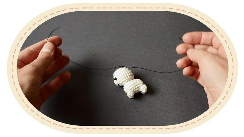 Как прятать нити при вязании амигуруми. How to hide knots in amigurumi.