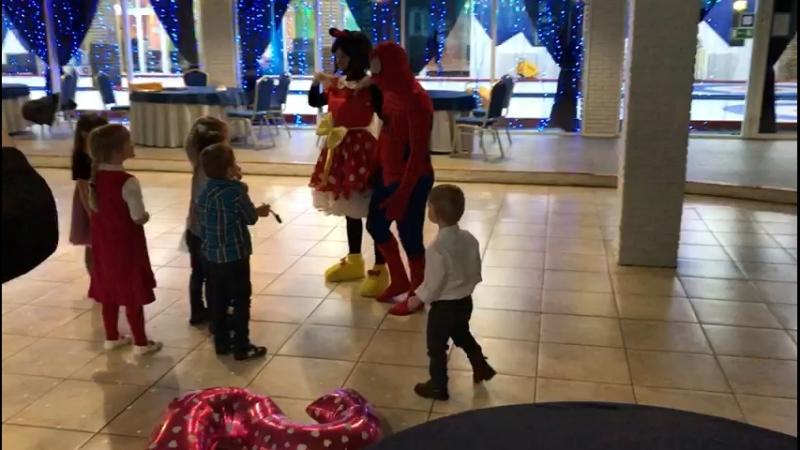 Минни Маус и Человек-паук на дне рождения у Агнии (10.02.2018)