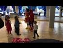 Минни Маус и Человек паук на дне рождения у Агнии 10 02 2018
