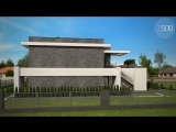 Проект двухэтажного дома с гаражом Zx146 от Z500