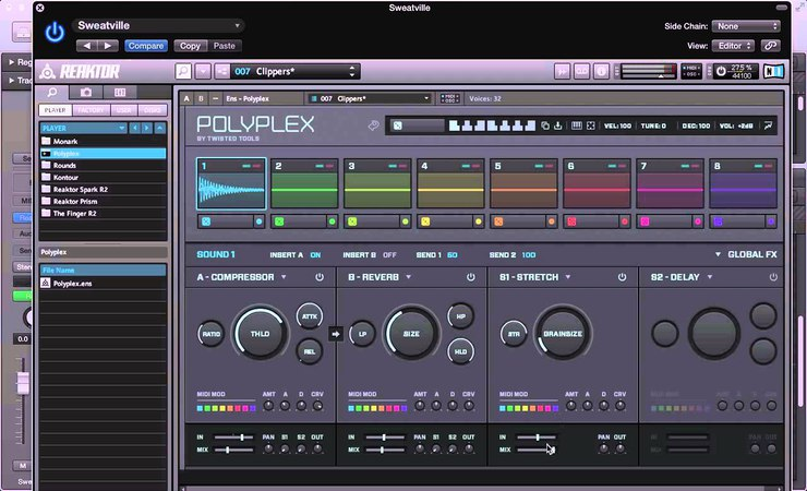 NI Polyplex (Drum Sampler) - Sound Design Tips - Native Instruments Komplete 10