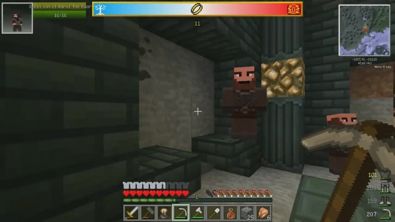 SuperEvgexa Minecraft Властелин Колец 3 Шахта гномов