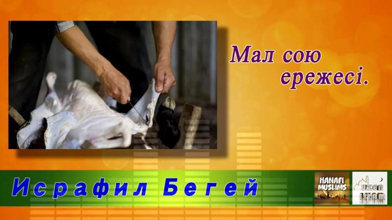 Малды сою ережесі Исрафил Бегей