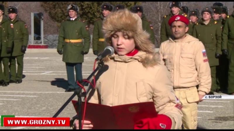 В Чечне вручено Боевое знамя 291-му гвардейскому мотострелковому полку в селении Борзой