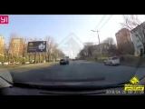 Владивосток #ДТП на проспекте Столетия, перед Магнитогорской попало в объектив видеорегистратора очевидца