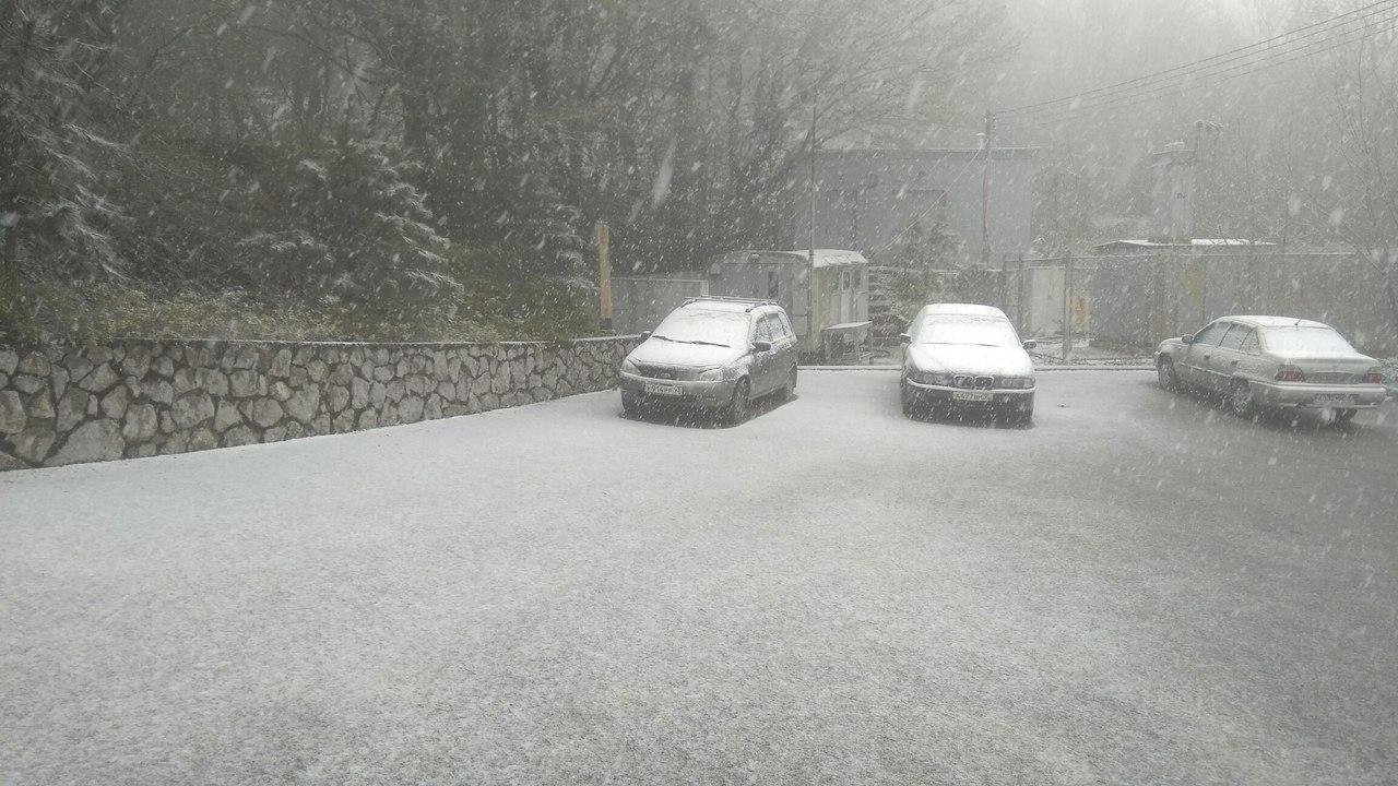 В Крыму из-за снежной метели хотят закрыть детские сады на неделю