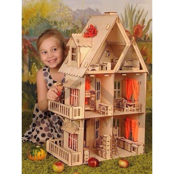 Сказочный кукольный домик из фанеры купить