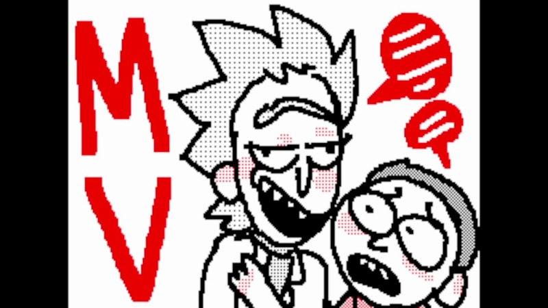 Season 2 Episode 3 MV Rick and Morty Sudomemo Endy Cat's Flipnote 720p
