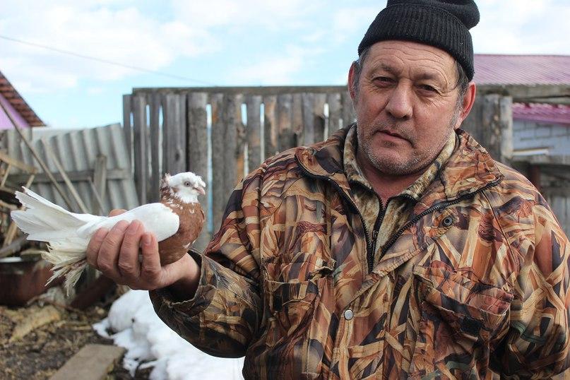 Виктор Анатольевич Мерзляков и его голубь