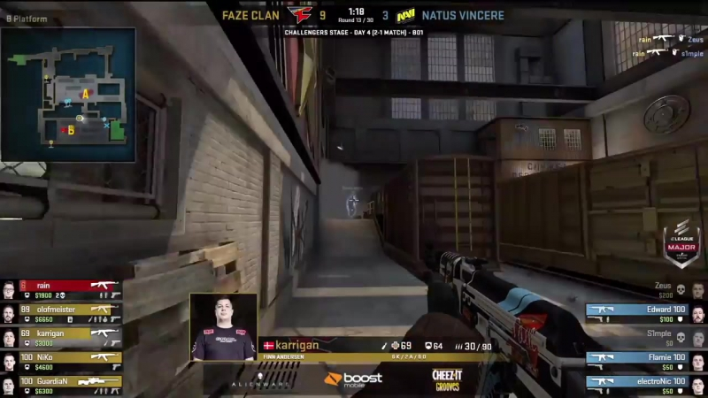 [CS:GO BEST MOMENTS] Na'Vi vs FaZe - ПОБЕДИТЕЛЬ ПРОХОДИТ В ОСНОВНУЮ ЧАСТЬ МАЖОРА