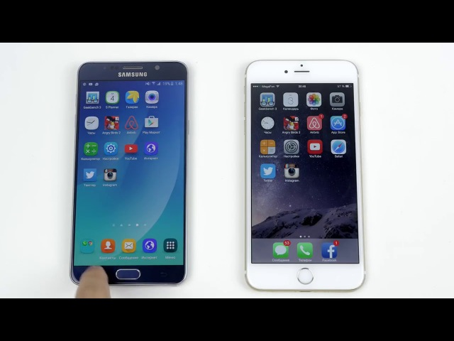 Galaxy Note 5 vs iPhone 6 Plus Speed Test