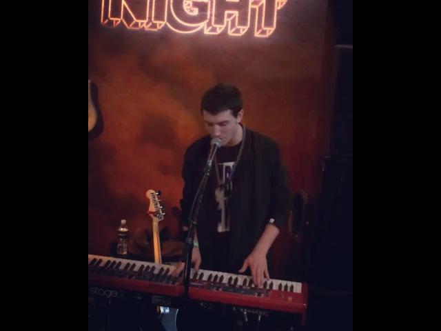 "Mark Jablonski on Instagram: ""EzraMiller (aka The Flash⚡️) sound checking 🎹 with his band @sonsofanillustriousfather for tonight's @itsaschoolnigh..."