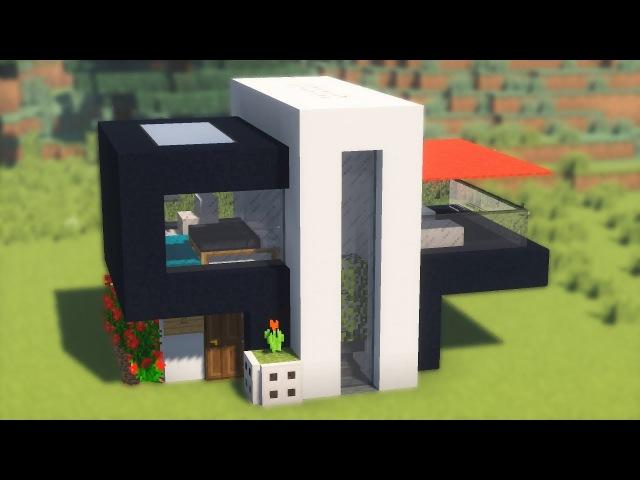 Красивый дом хай-тек в майнкрафте! 3 этажа!