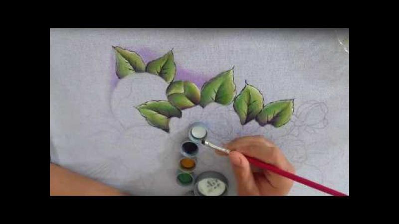 Como pintar essa linda folha dobrada