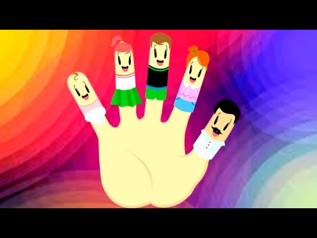 Песенки для детей на английском языке! Finger Family 👋 Веселые детские ПЕСНИ. Капуки ...