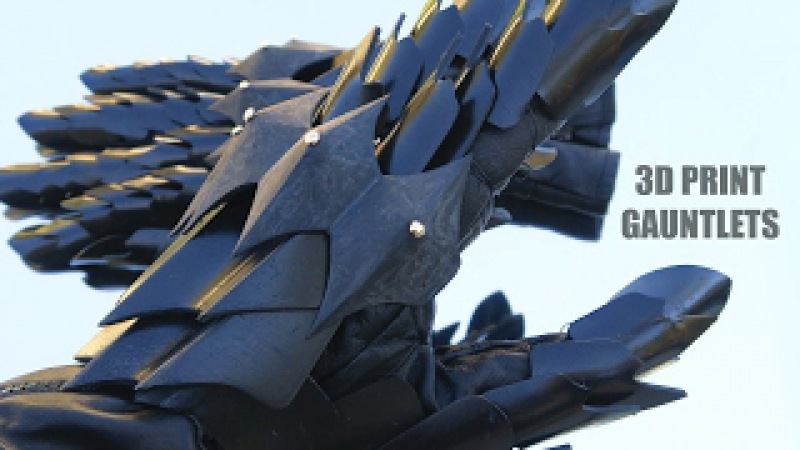 How to Make 3D Printed Gauntlets for the Witch King of Angmar Costume